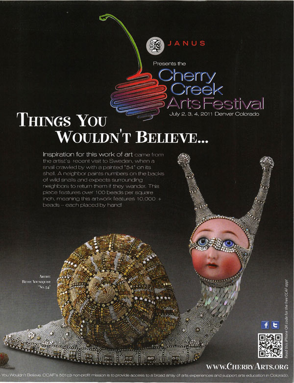"Betsy Youngquist's ""No. 54"" was used in the Cherry Creek Art Fair's 2011 advertising campaign."