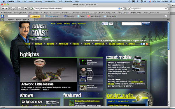"""Little Nessie"" on the Coast to Coast AM website."