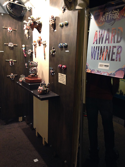 Betsy wins an award at the Saint Louis Art Fair.